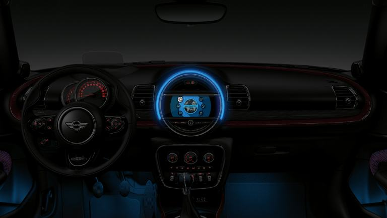 MINI Clubman interior dashboard and steering wheel